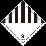 ADR pictogram 9-Miscellaneous dangerous substances