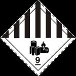 ADR pictogram 9A -Lithium Ion Batteries