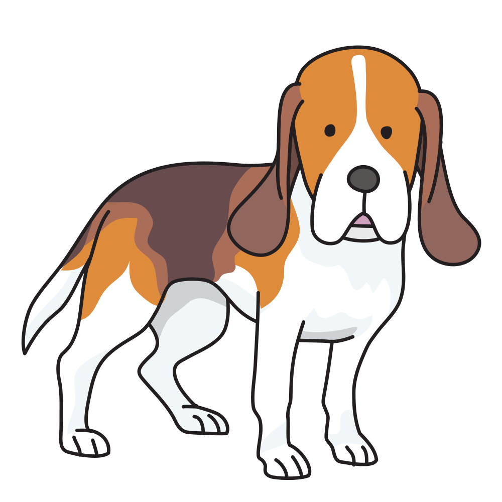 OnlineLabels Clip Art - Dog - Beagle