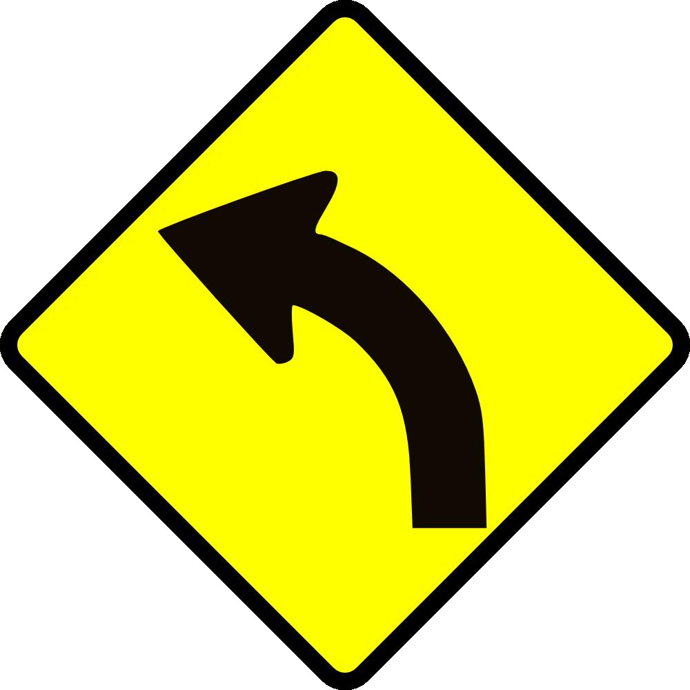 OnlineLabels Clip Art - Cautio_Curve In Road 2