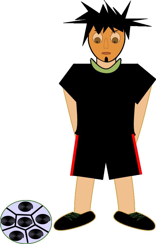 OnlineLabels Clip Art - Football Player