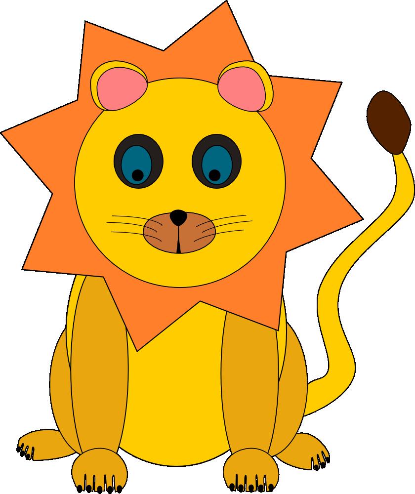 OnlineLabels Clip Art - Lion