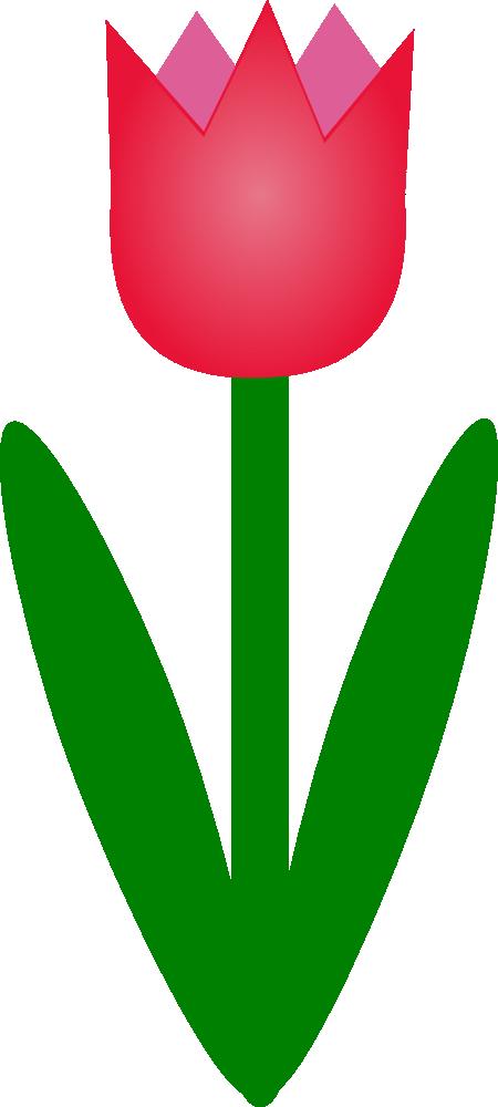 OnlineLabels Clip Art - Tulip1