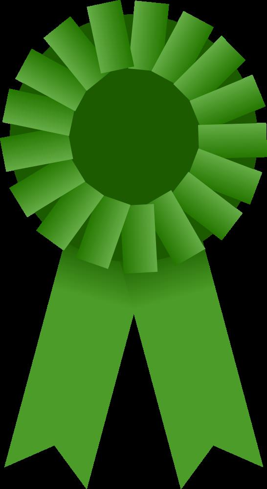 OnlineLabels Clip Art - Award Ribbon -- Green