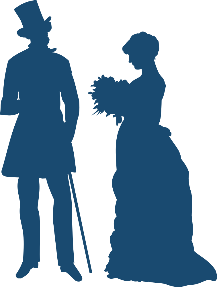 OnlineLabels Clip Art - Old-Fashioned Couple