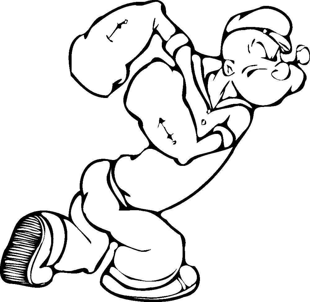 OnlineLabels Clip Art - Popeye 1