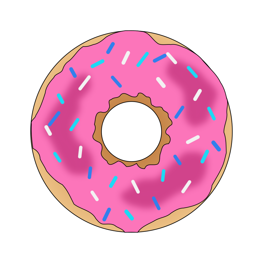 onlinelabels clip art pink donut rh onlinelabels com donut clipart doughnut clip art no background