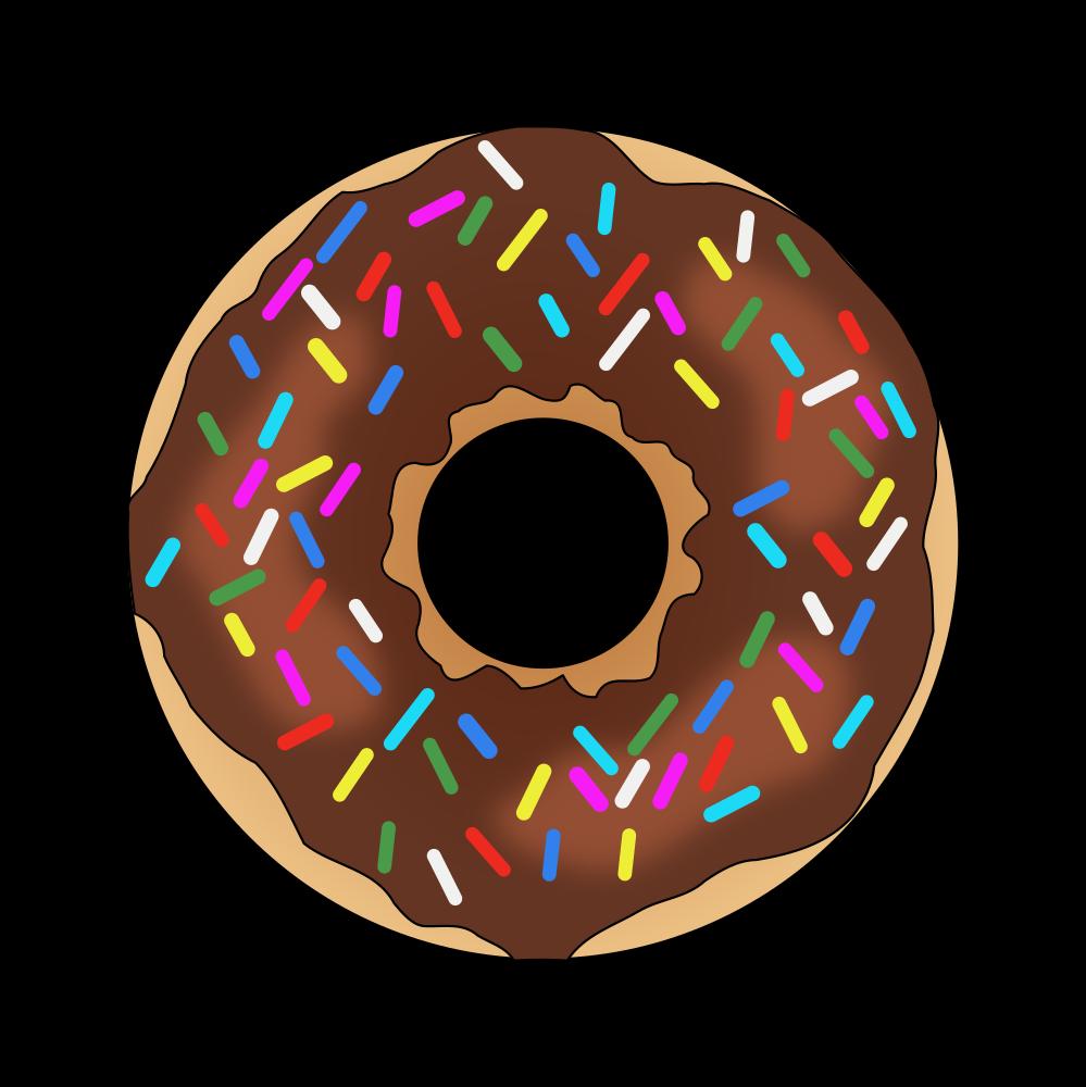 OnlineLabels Clip Art - Rainbow Sprinkles Donut