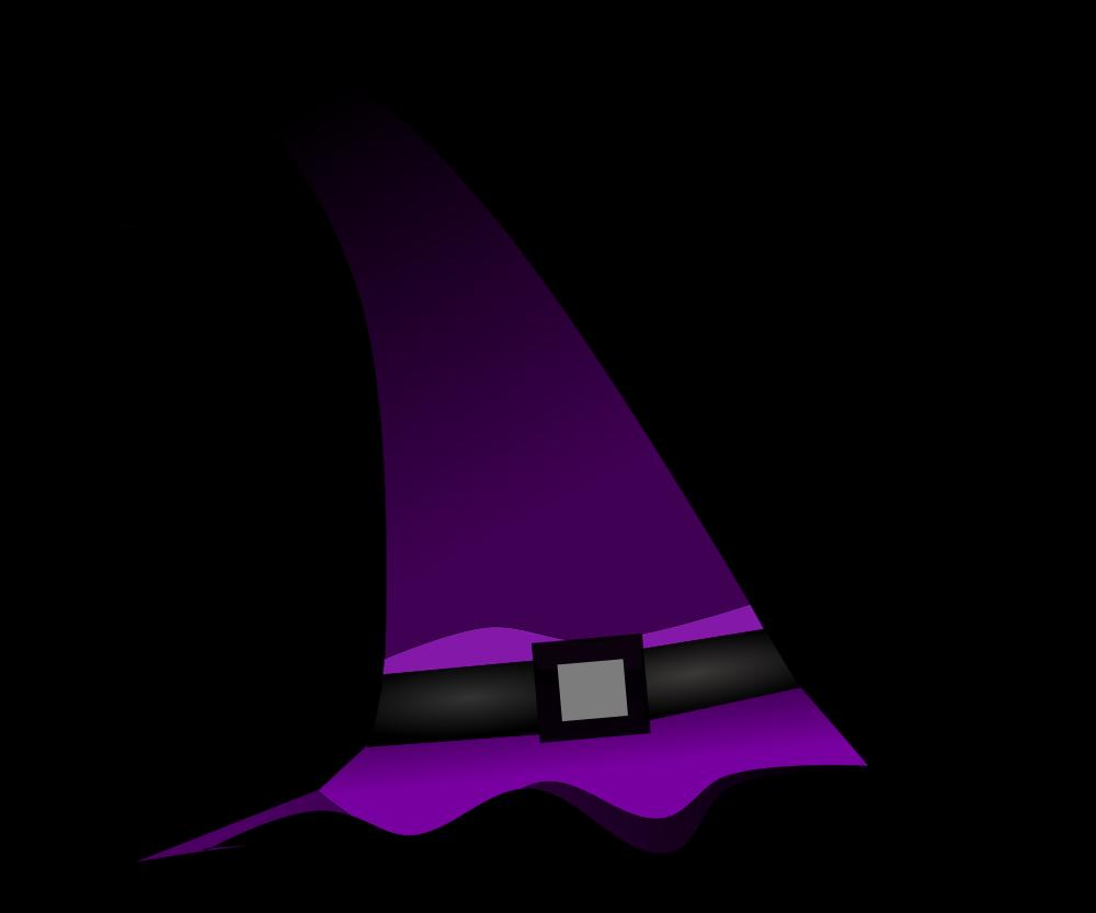 OnlineLabels Clip Art - Purple Witch Hat