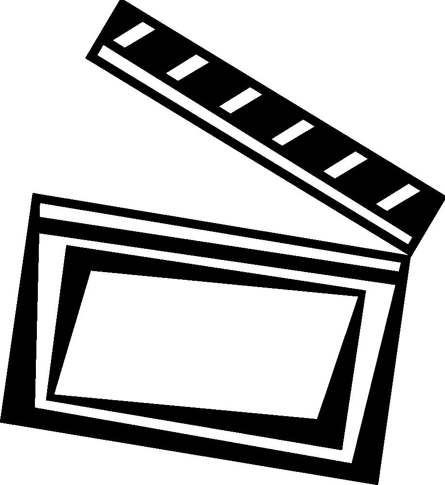 OnlineLabels Clip Art - Clapperboard