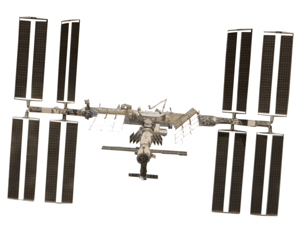 It's just an image of Crush International Space Station Drawing