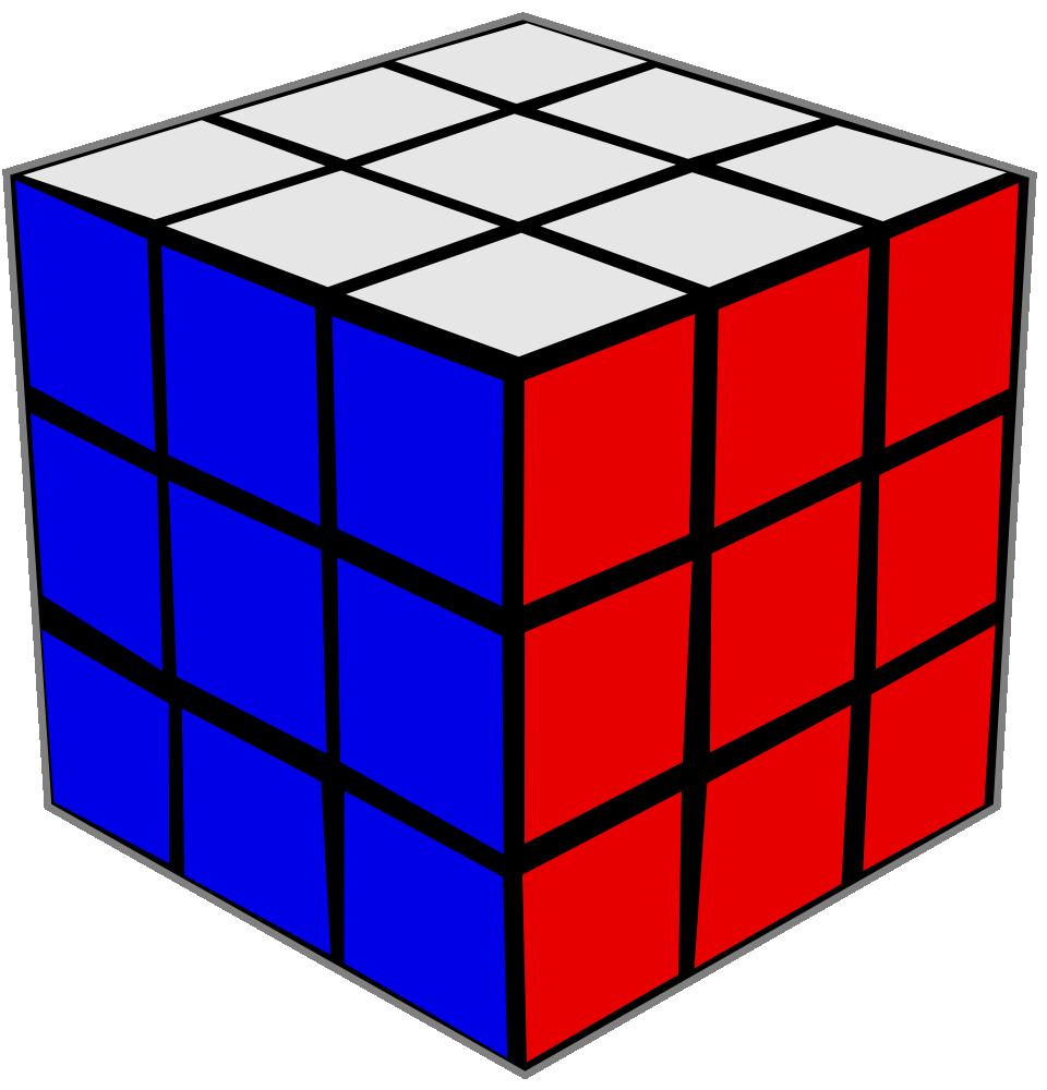 OnlineLabels Clip Art - Rubik's Cube