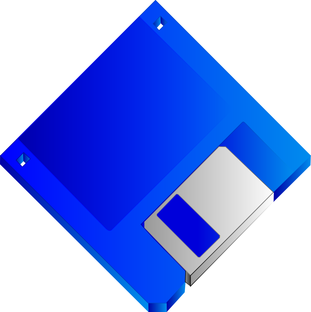 Blue Number 5 Clip Art 3.5 floppy disk blue no label. flag this clip ...