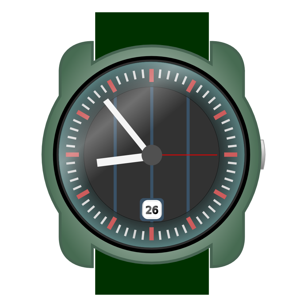 Onlinelabels clip art analog wrist watch for Minimal art wrist watch