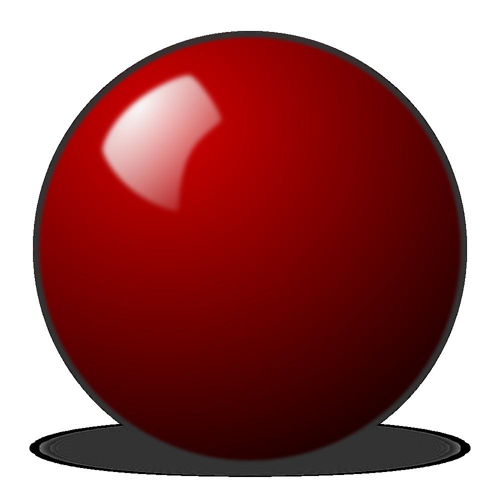 Onlinelabels Clip Art Red Snooker Ball