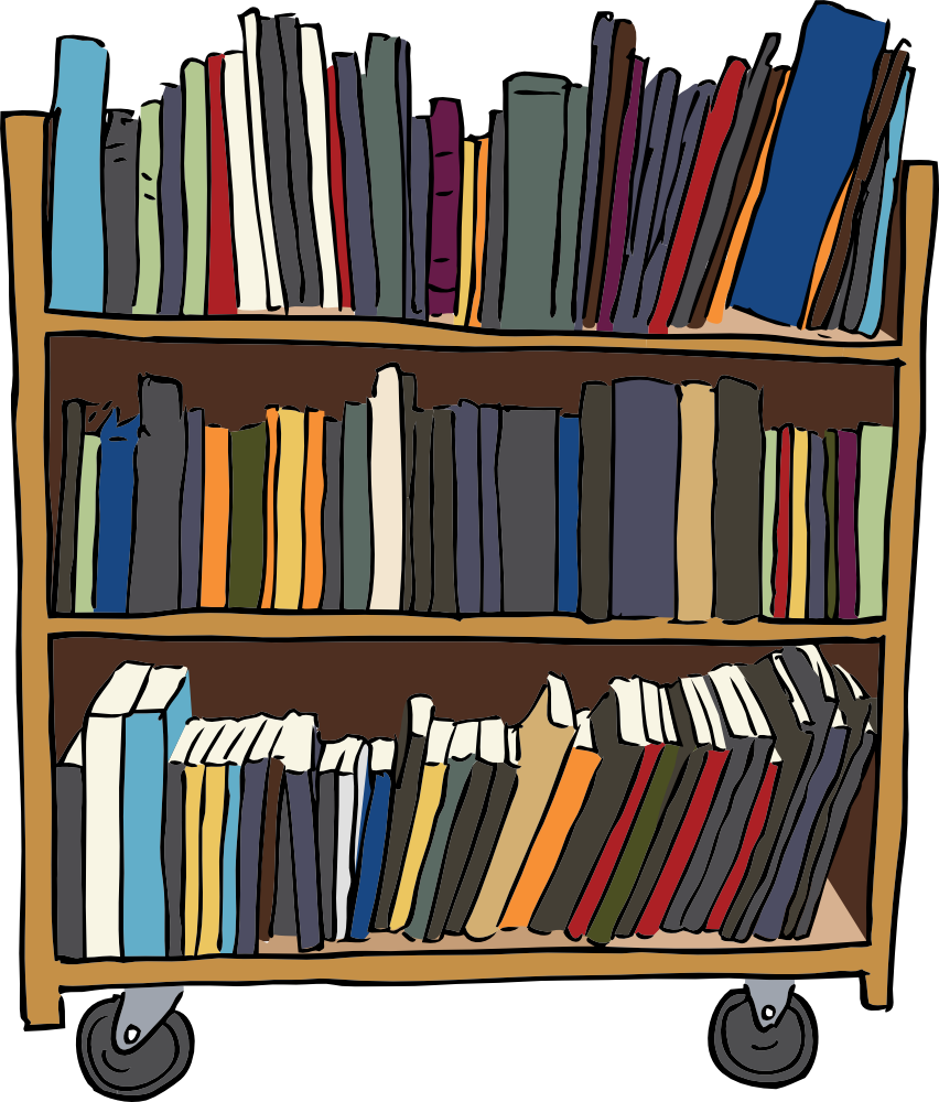 Reference Librarian Clip Art Library book cart