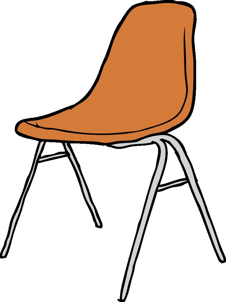 OnlineLabels Clip Art - Modern Chair 3/4 Angle
