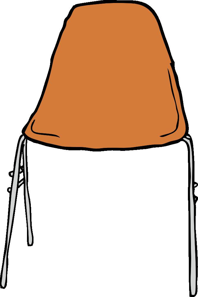 Onlinelabels Clip Art Modern Chair Front