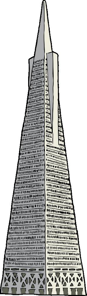 Onlinelabels Clip Art Transamerica Building