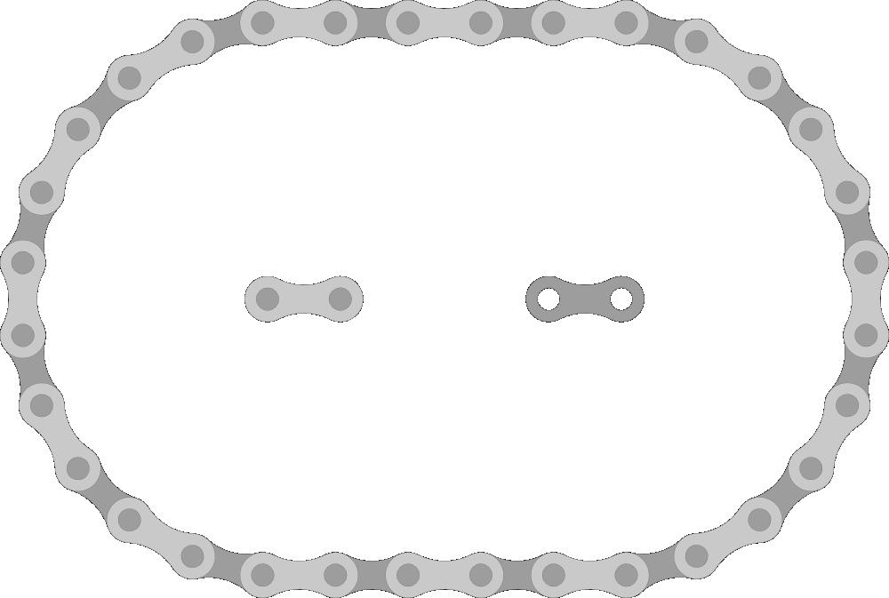 Onlinelabels Clip Art Bike Chain Links