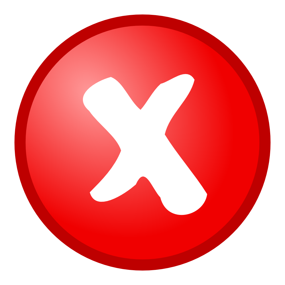 Onlinelabels clip art red cancel icon - Cheque caution non rendu ...