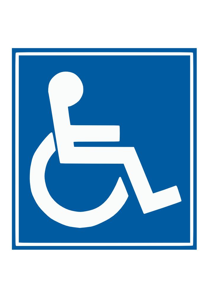 Onlinelabels clip art handicap sign for Handicap template