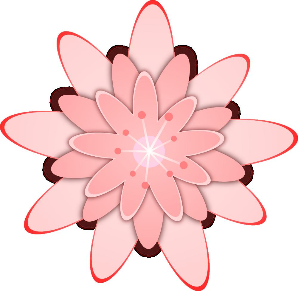 Onlinelabels Clip Art Pink Flower