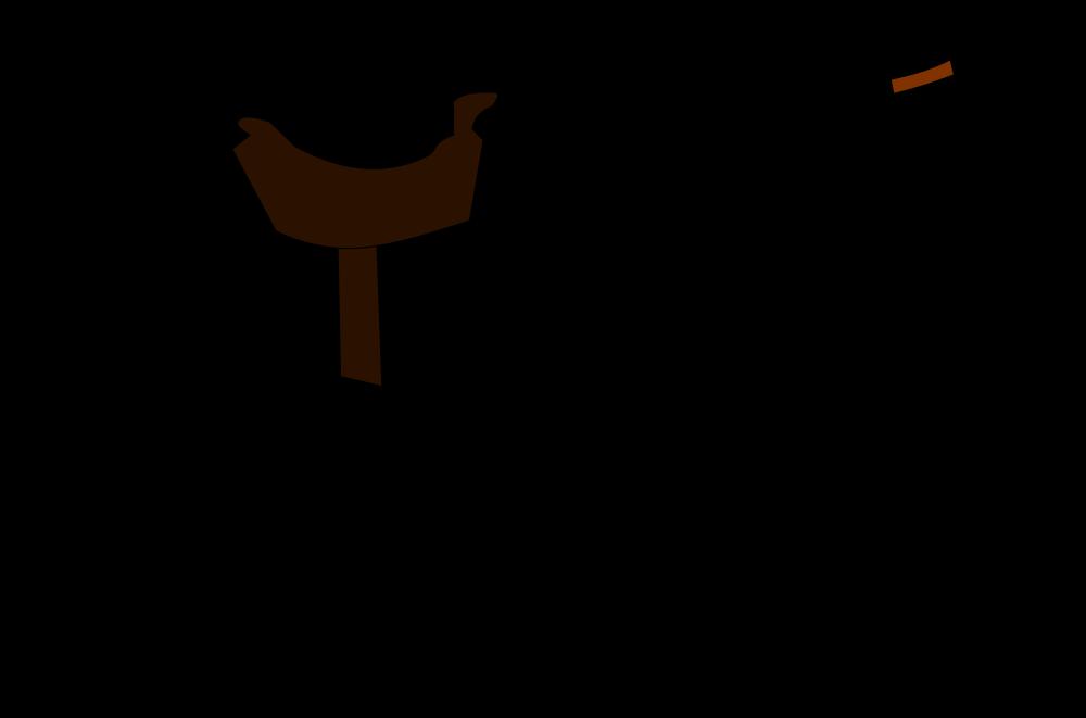 OnlineLabels Clip Art - Bow-Legged Cowboy