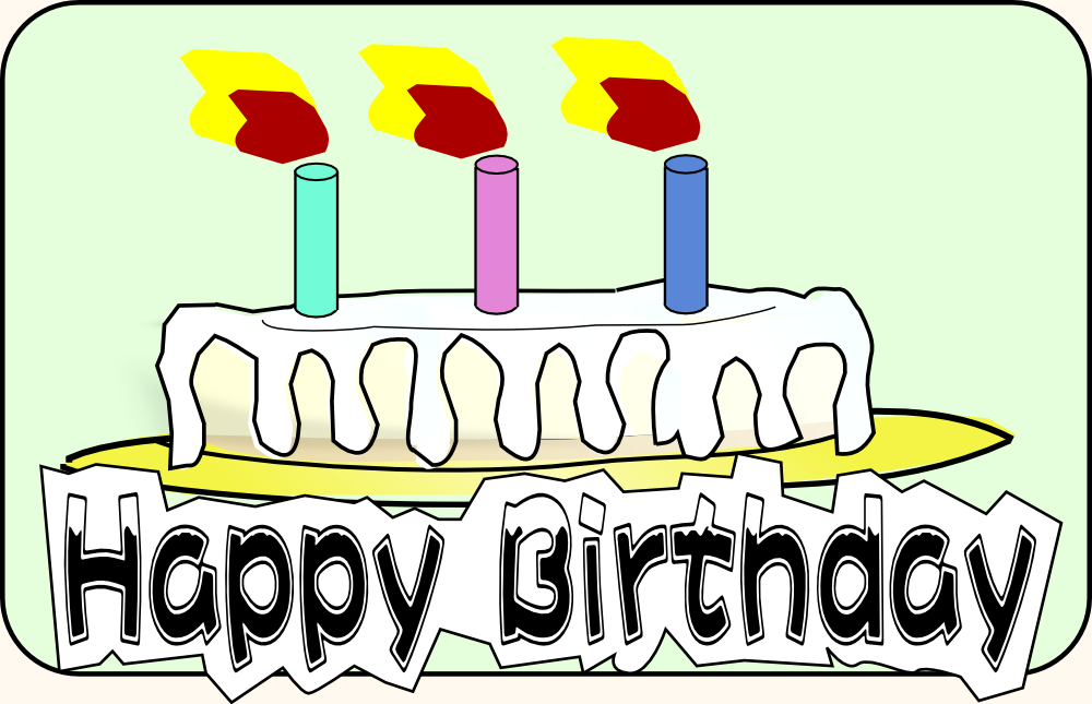 Onlinelabels Clip Art Birthday Cake With Letters