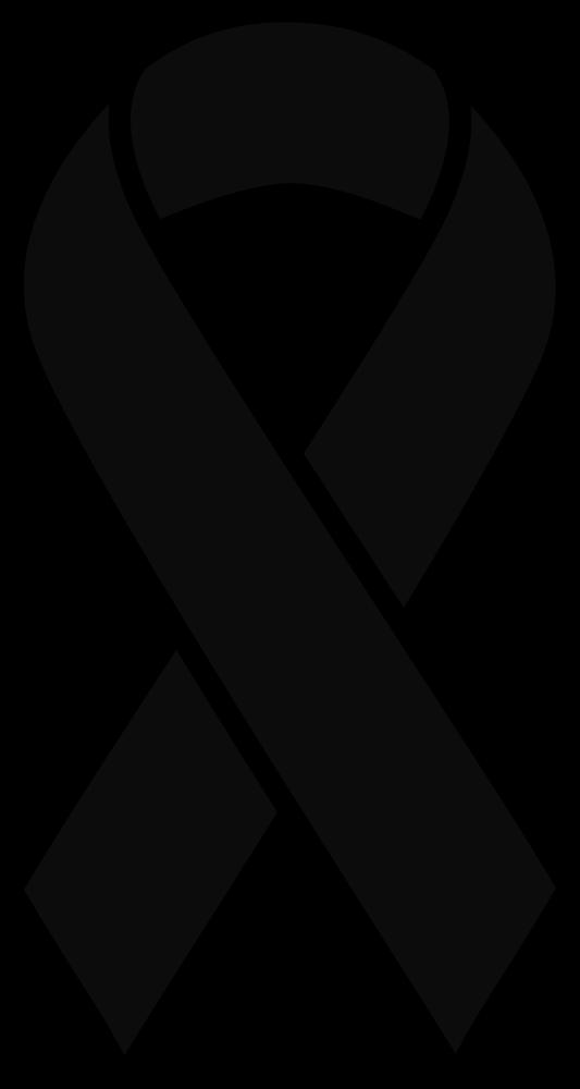 OnlineLabels Clip Art - Black Melanoma Ribbon