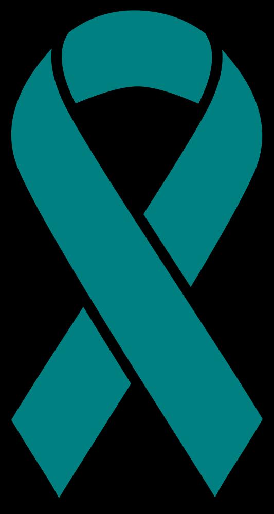 Onlinelabels Clip Art Teal Ovarian Cancer Ribbon