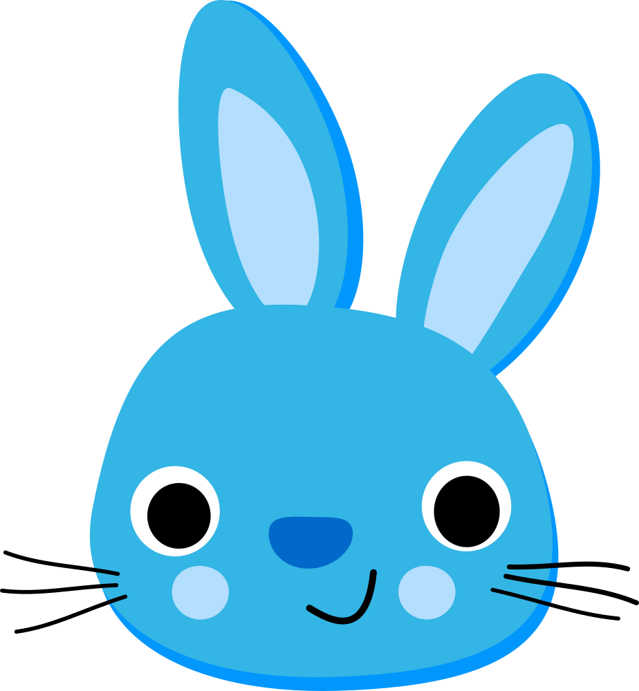 Blue Rabbit Lapin Bleu Onlinelabels Clip Art