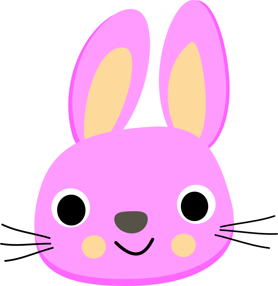 Pink Rabbit Lapin Rose Onlinelabels Clip Art