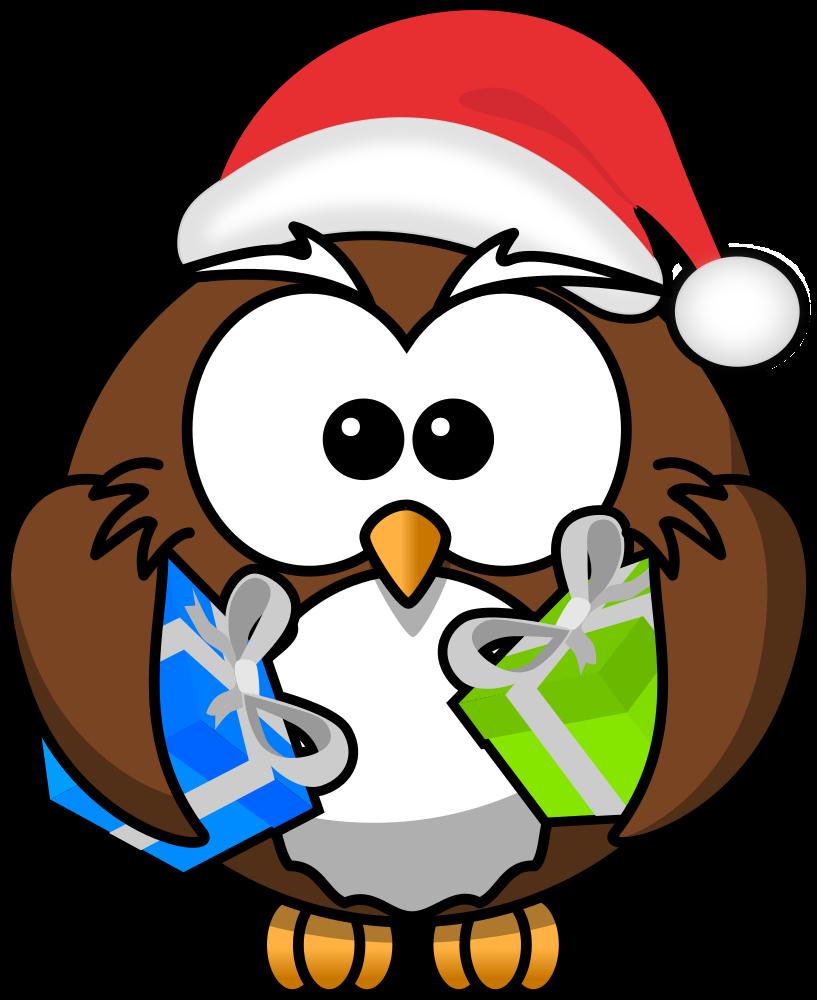 OnlineLabels Clip Art - Santa Owl