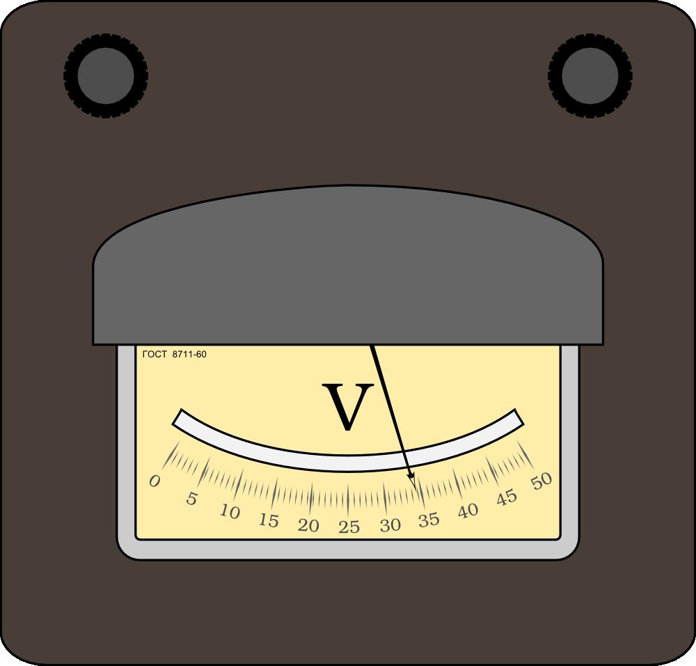 Power Meter Clip Art : Onlinelabels clip art voltmeter