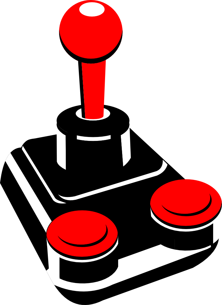 OnlineLabels Clip Art - Retro Joystick 001
