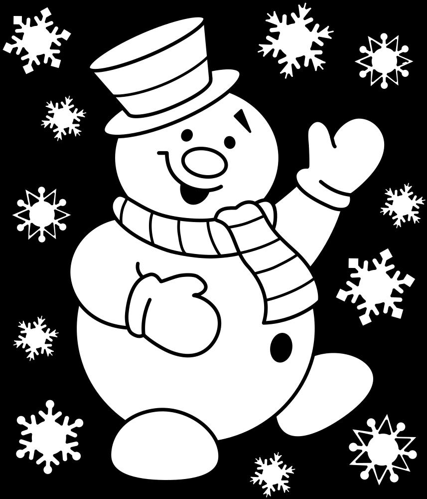 Нарисовать картинки на новый год снеговик, спасибо