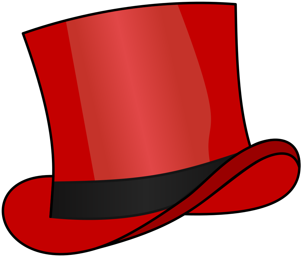 OnlineLabels Clip Art - Red Top Hat