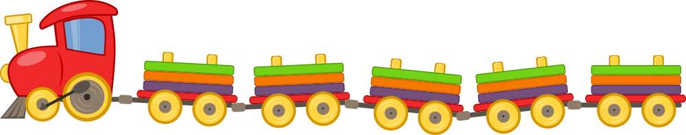 OnlineLabels Clip Art - Toy Train With 5 Wagons