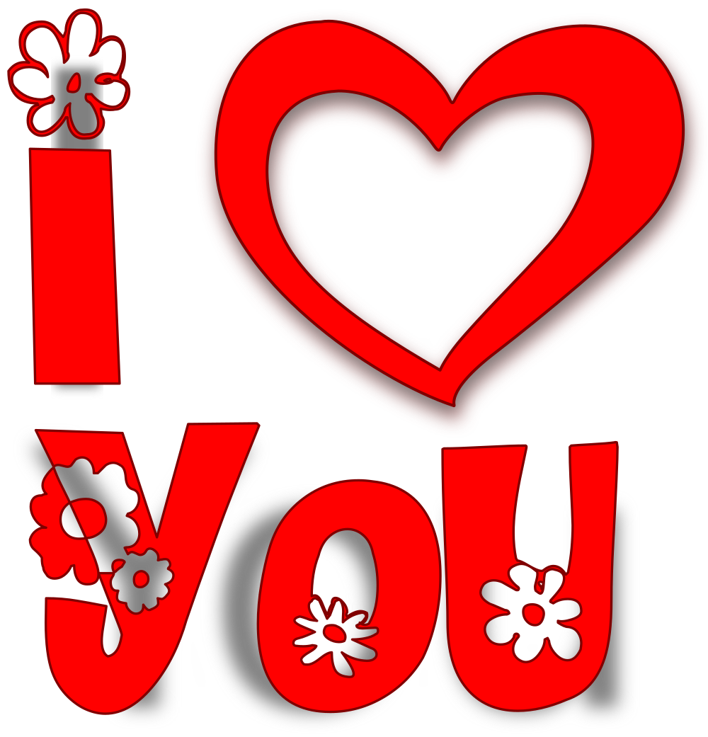 Download OnlineLabels Clip Art - I Love You