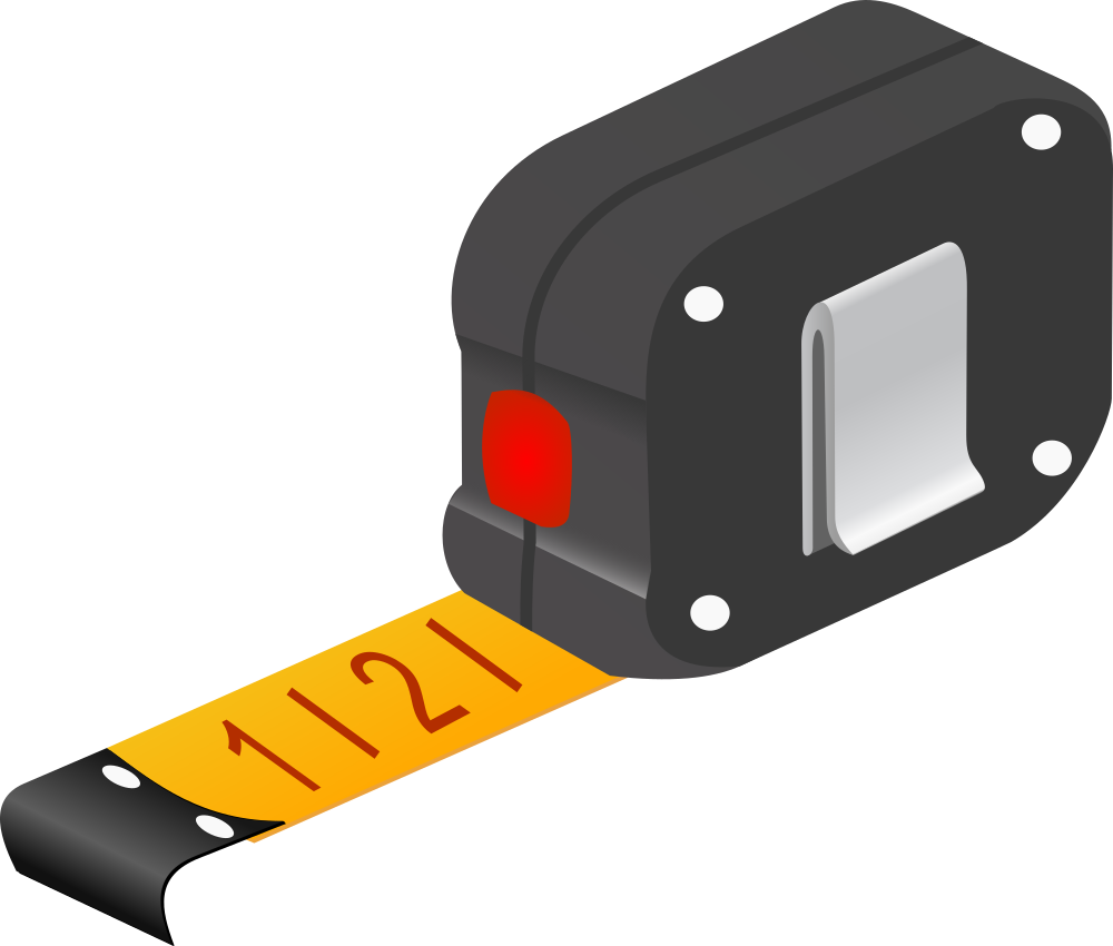 OnlineLabels Clip Art - Measuring Tape
