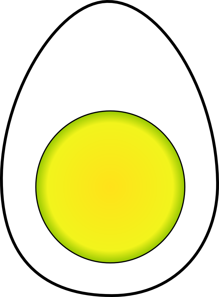 OnlineLabels Clip Art - Hard Boiled Egg