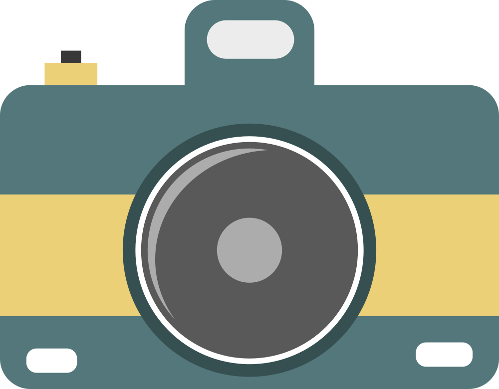 OnlineLabels Clip Art - Flat Camera