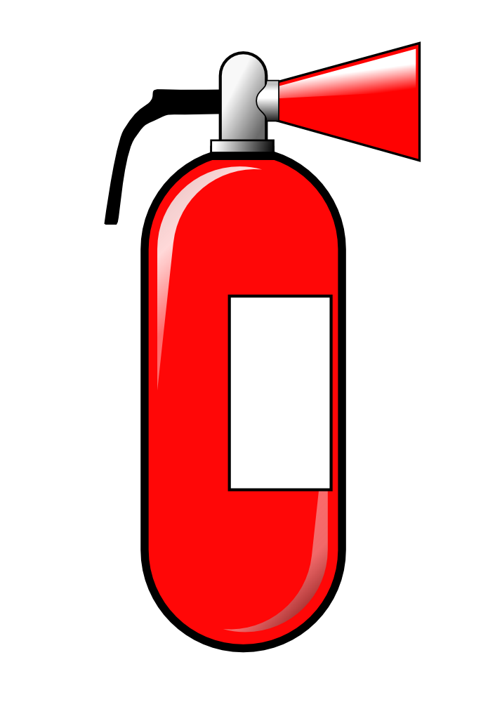 OnlineLabels Clip Art - Fire Extinguisher