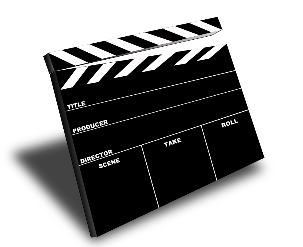 Movie Slate Clip Art