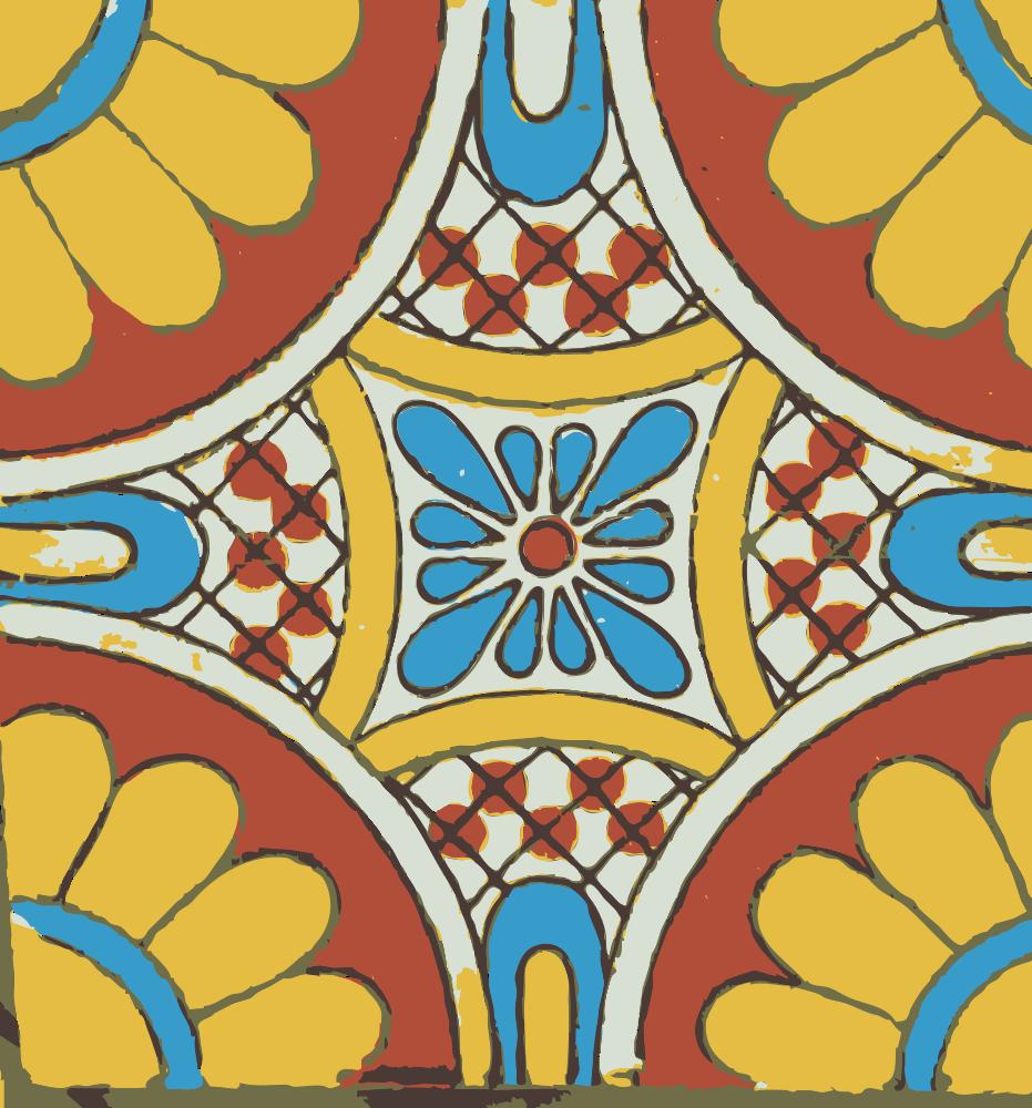 OnlineLabels Clip Art Mexican Tile - Discount mexican tile
