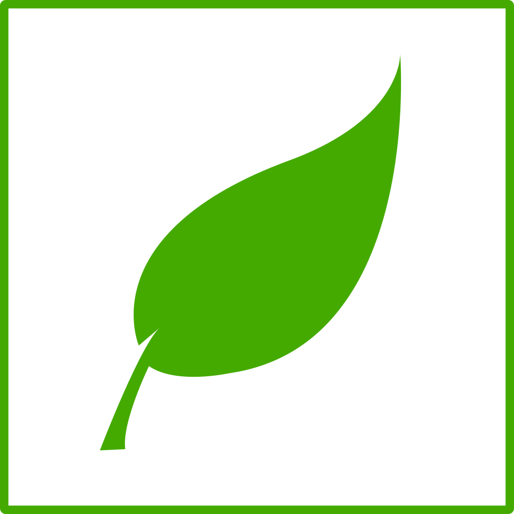 OnlineLabels Clip Art - Eco Green Leaf Icon