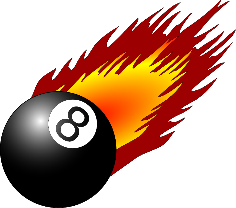 Onlinelabels clip art 8ball with flames - 8 ball pictures ...