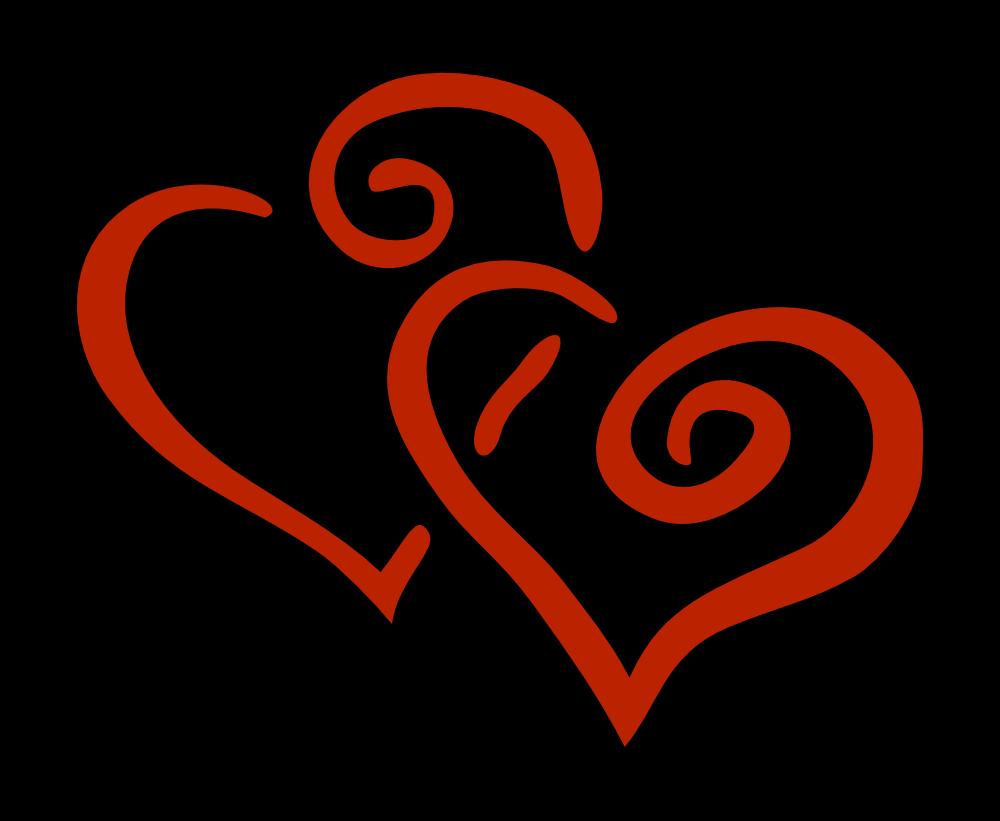 OnlineLabels Clip Art - 2 Hearts