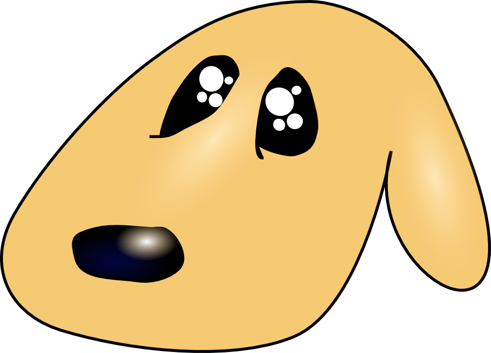OnlineLabels Clip Art - Cute Sad Dog